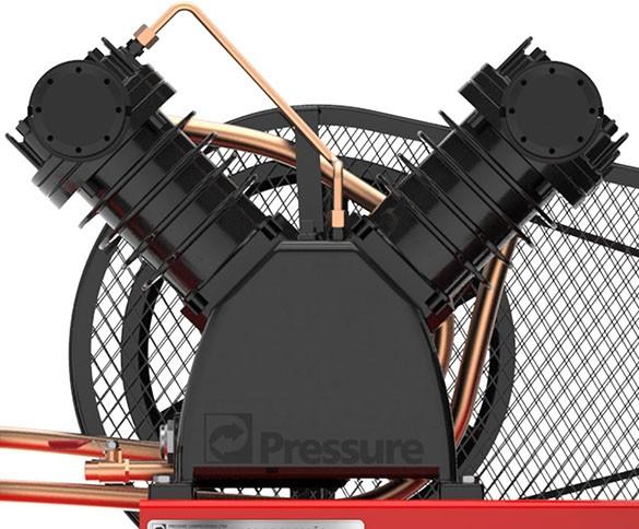 Compressor de Ar 15 PÉS 175 Litros Monofásico - PRESSURE ATG215175VM