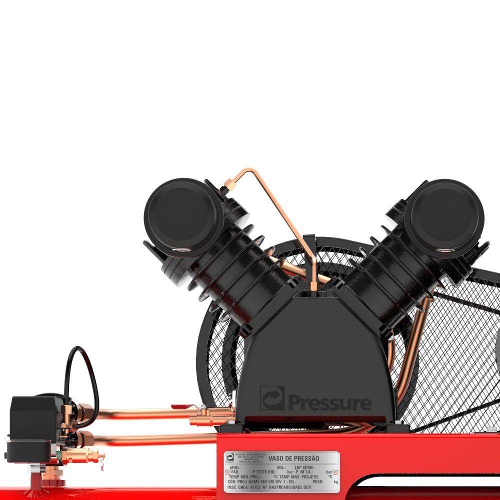 Compressor de Ar 20 PÉS 200 Litros Trifásico - PRESSURE ATG220200VT