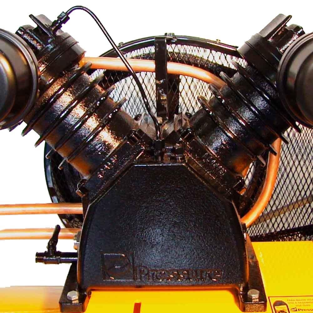 Compressor de Ar 20 PÉS 200 Litros Trifásico - PRESSURE SE20200VT