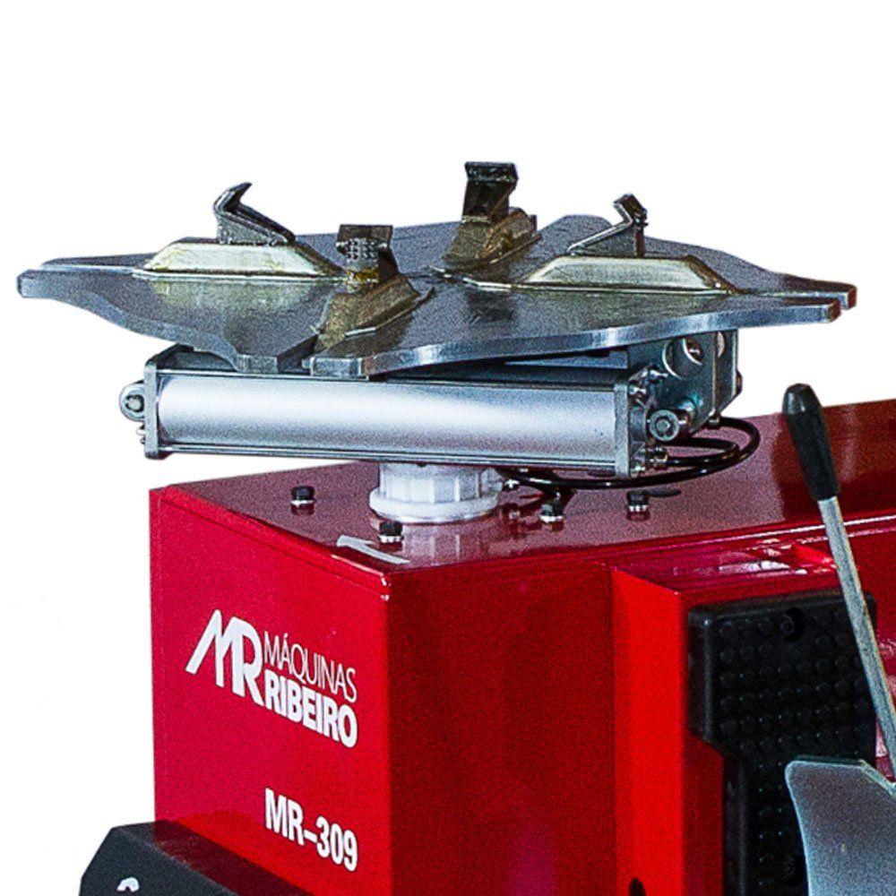 Desmontadora de Pneus para Rodas 12 a 24 Pol. Vermelha c/ Braço Auxiliar - RIBEIRO MR309