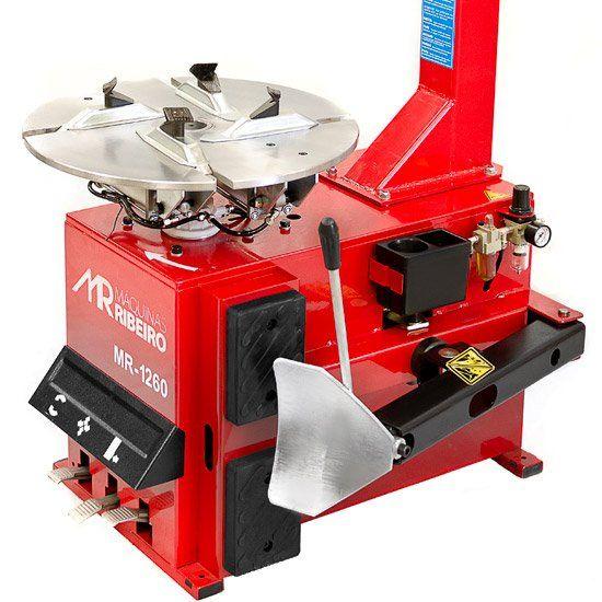 Desmontadora de Pneus para Rodas 10 a 18 Pol. Vermelha - RIBEIRO MR1260