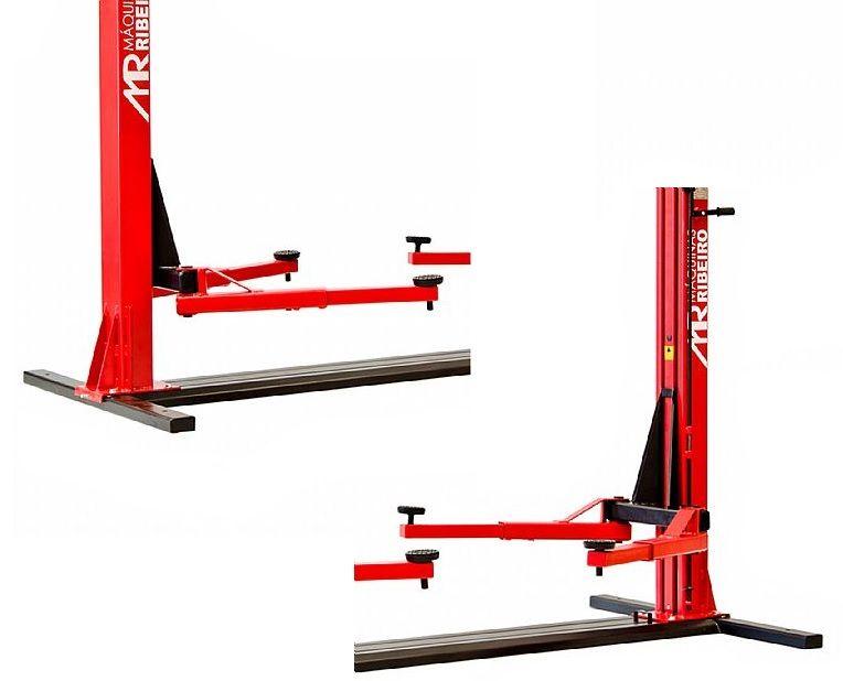 Elevador Automotivo 2500Kg Trifásico Vermelho - RIBEIRO ER2500