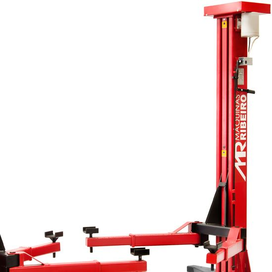 Elevador Automotivo 4000Kg Trifásico Vermelho - RIBEIRO ER4000