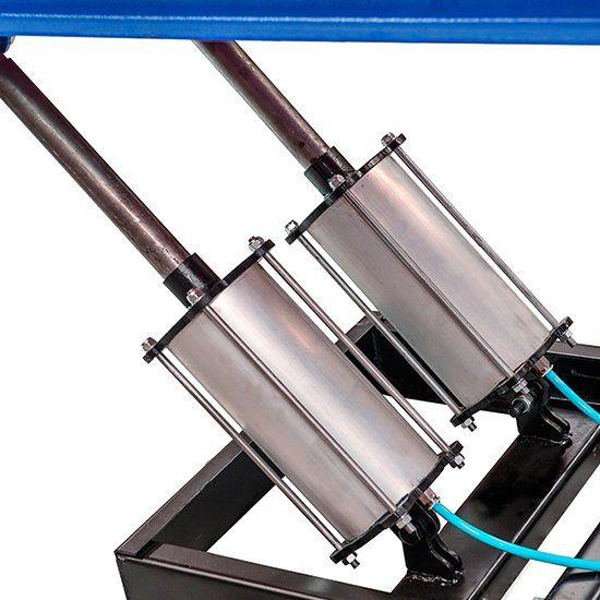 Rampa de Alinhamento Pneumática 4000Kg Azul - RIBEIRO MR4000