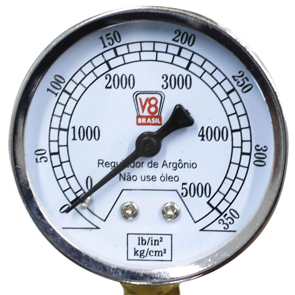 Regulador de Pressão Argônio - V8 BRASIL 110190