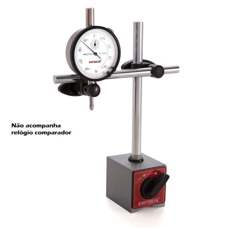 Suporte de Medição com Base Magnética e Ajuste Fino