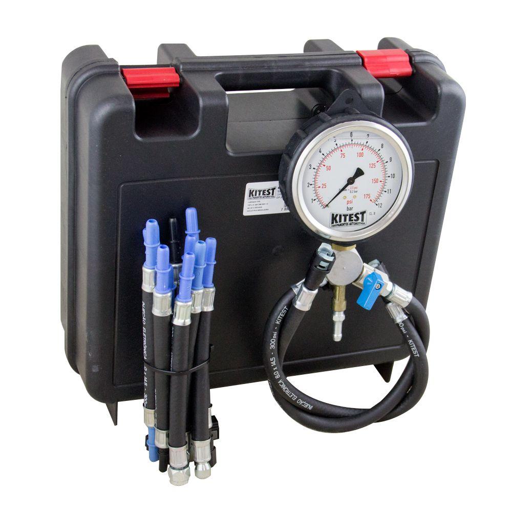 Teste de Pressão de Bomba de Combustível com 13 Mangueiras - KITEST KA015.13