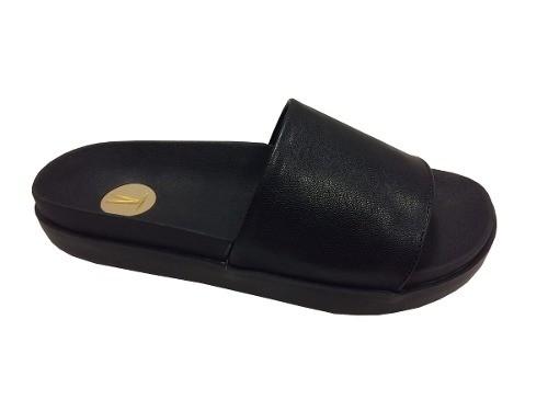 Sandalia Chinelo Slide Feminino Vizzano 6351.100 26351 preto e rosa