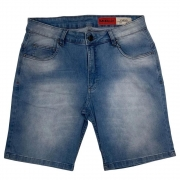 Bermuda Mcd Jeans Masculina Light Blue 12123409