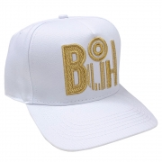 Boné Buh Fashion Soccer Bordado Branco Masculino Aba Curva 10127