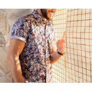 Camisa Baumgarten Floral Estampada MANGA CURTA Masculina