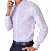Camisa Baumgarten Social Manga Longa Slim Elegance 2384 Masculina