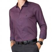 Camisa Baumgarten Social Manga Longa Slim Elegance 2410 Masculina