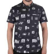 Camisa Lost Fake News 22024807 De Botão Manga Curta