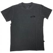 Camiseta Billabong Arch Wave Masculina Manga Curta Cinza Escuro