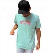 Camiseta Billabong Masculina Arch Wave manga curta