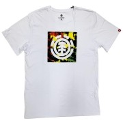 Camiseta Element Rasta Block Fill Branca masculina
