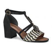 Sandália Dakota Z6151 Feminina Preto/bege