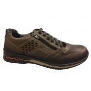 Sapato Pegada Masculino 114807 Couro marrom escuro