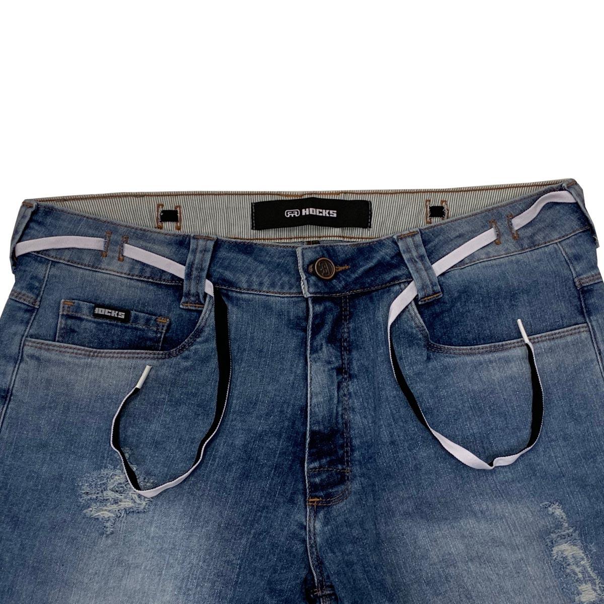 Bermuda Hocks Jeans 21-162 Masculina