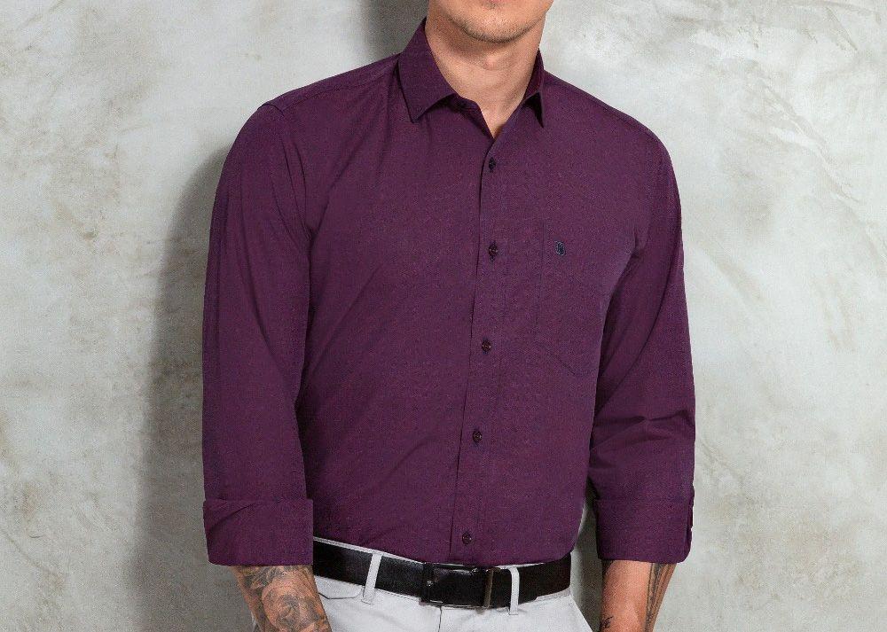 Camisa Baumgarten Social Manga Longa Premium 3791 Masculina