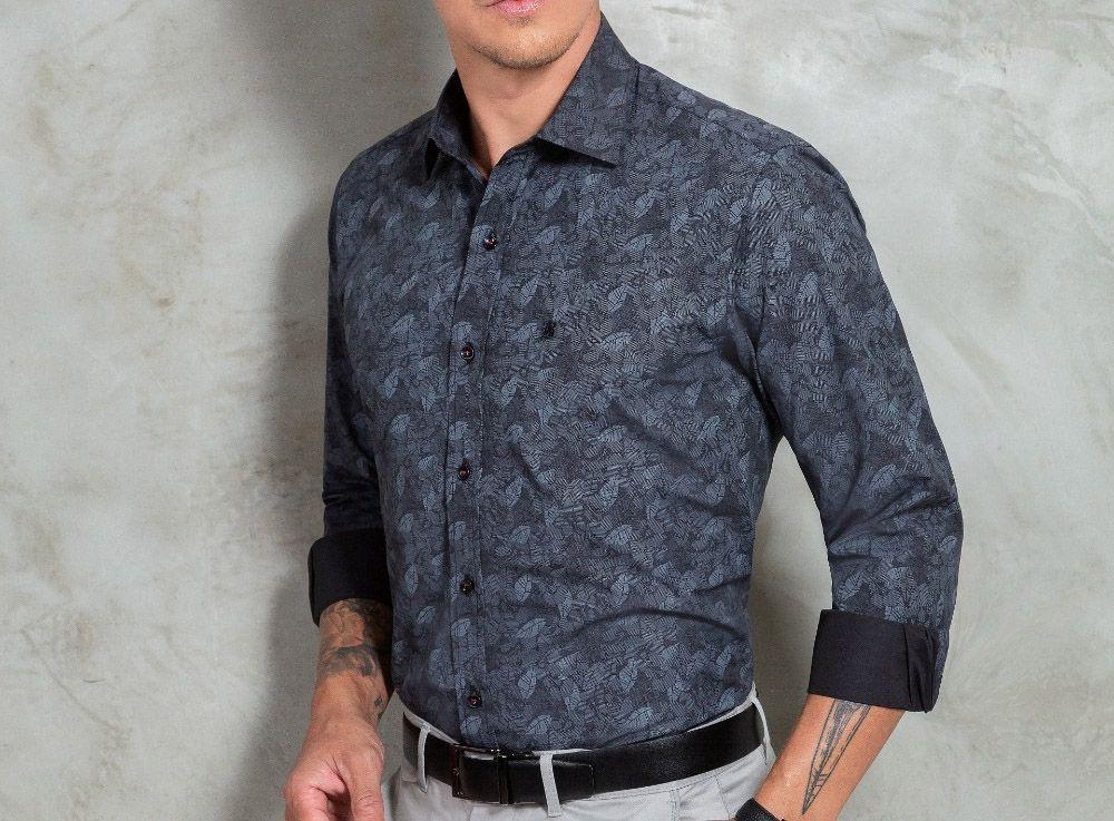 Camisa Baumgarten Social Manga Longa Premium 3805 Masculina
