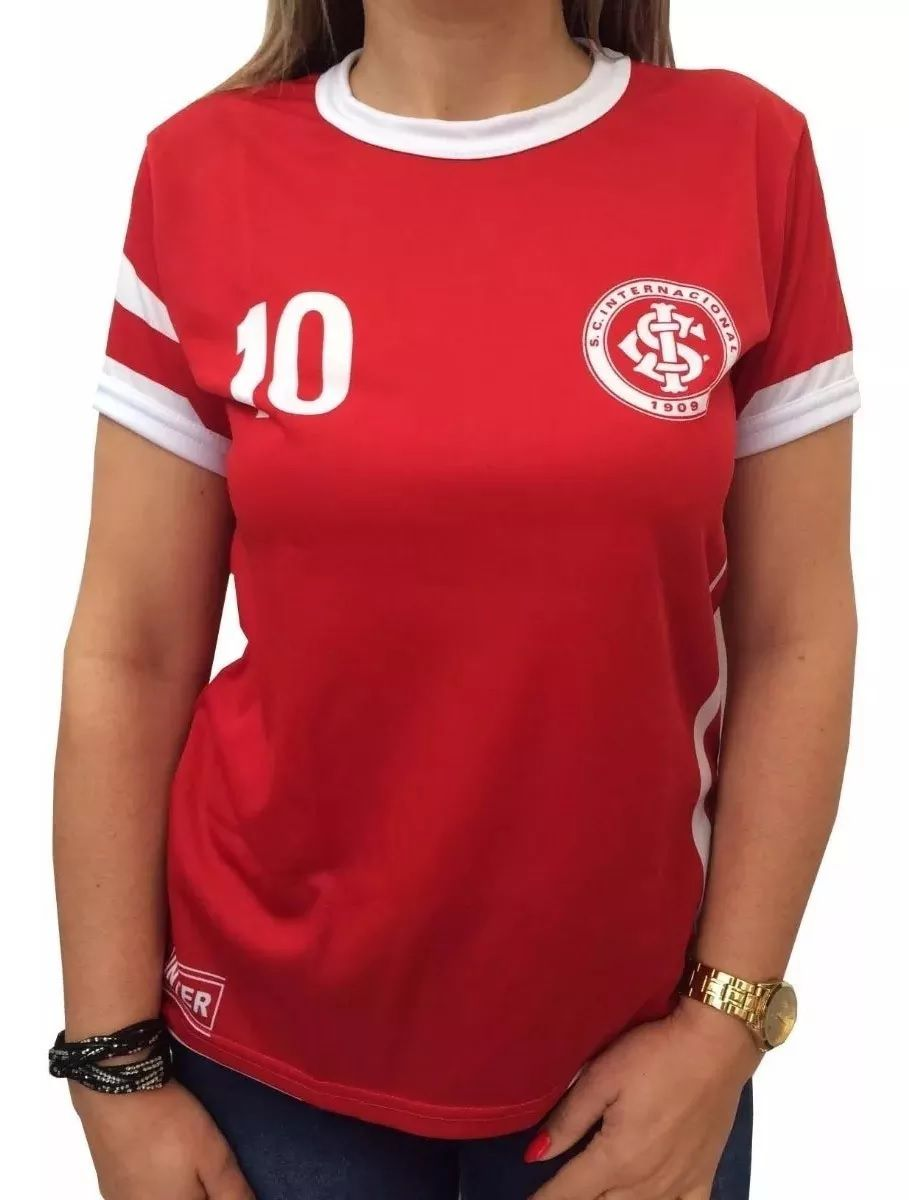Camisa Feminina Internacional Oficial Placar Baby Look Retrô 81008