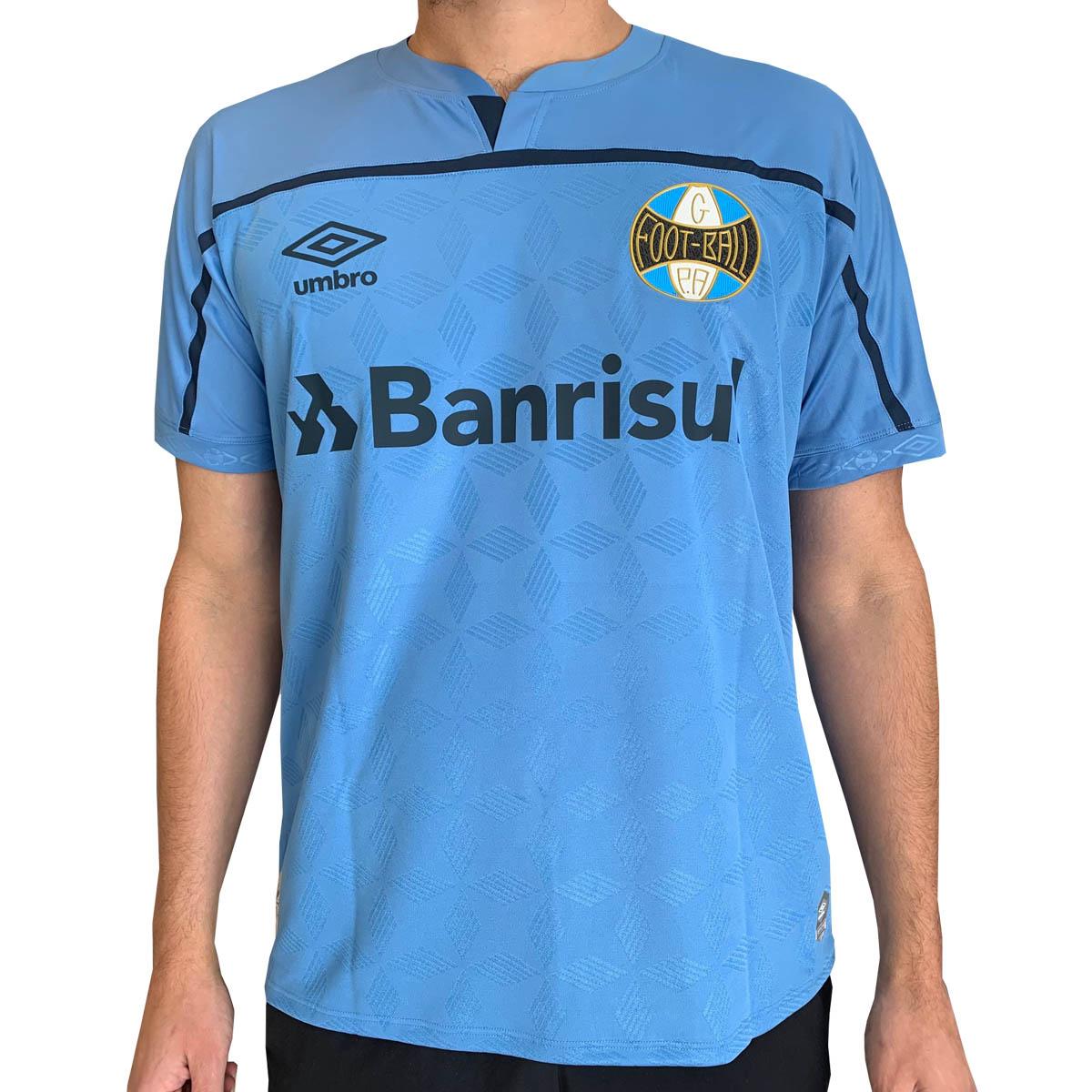 Camisa Grêmio Umbro Celeste 3 III Masculina Com Número 2020/21