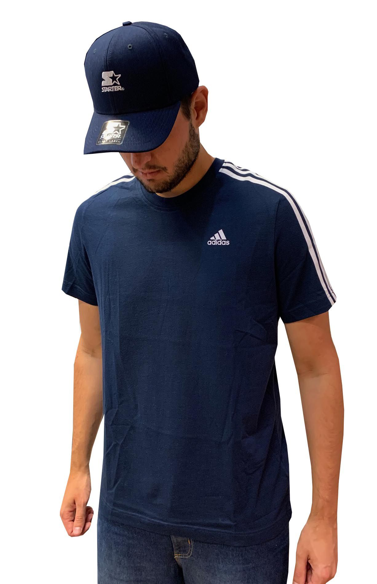 Camiseta Adidas ESSENTIALS 3 STRIPES Masculina 47359