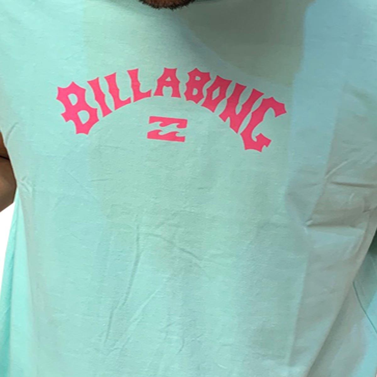 Camiseta Billabong Masculina Arch Wave manga curta