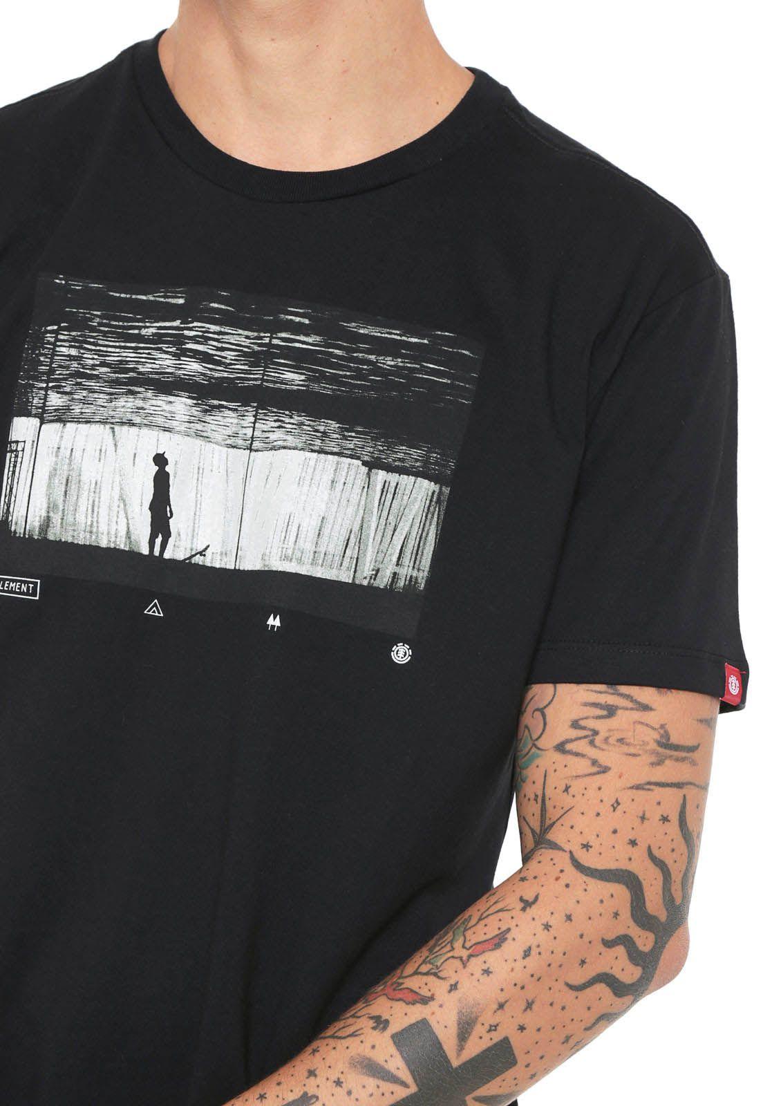 Camiseta Element Liquid Preta unissex