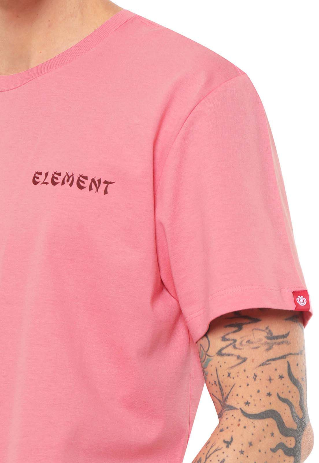Camiseta Element Take Out Rosa unissex