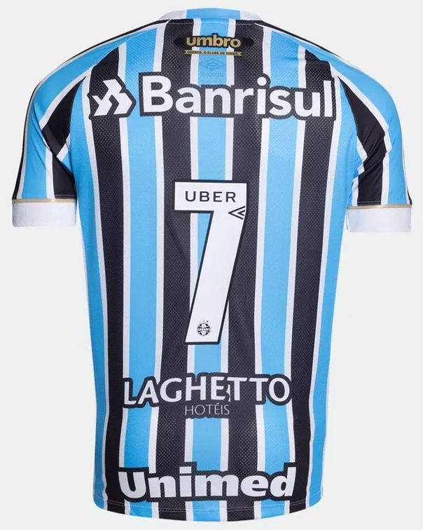 Camiseta Grêmio Umbro Tricolor Masculina Número 7