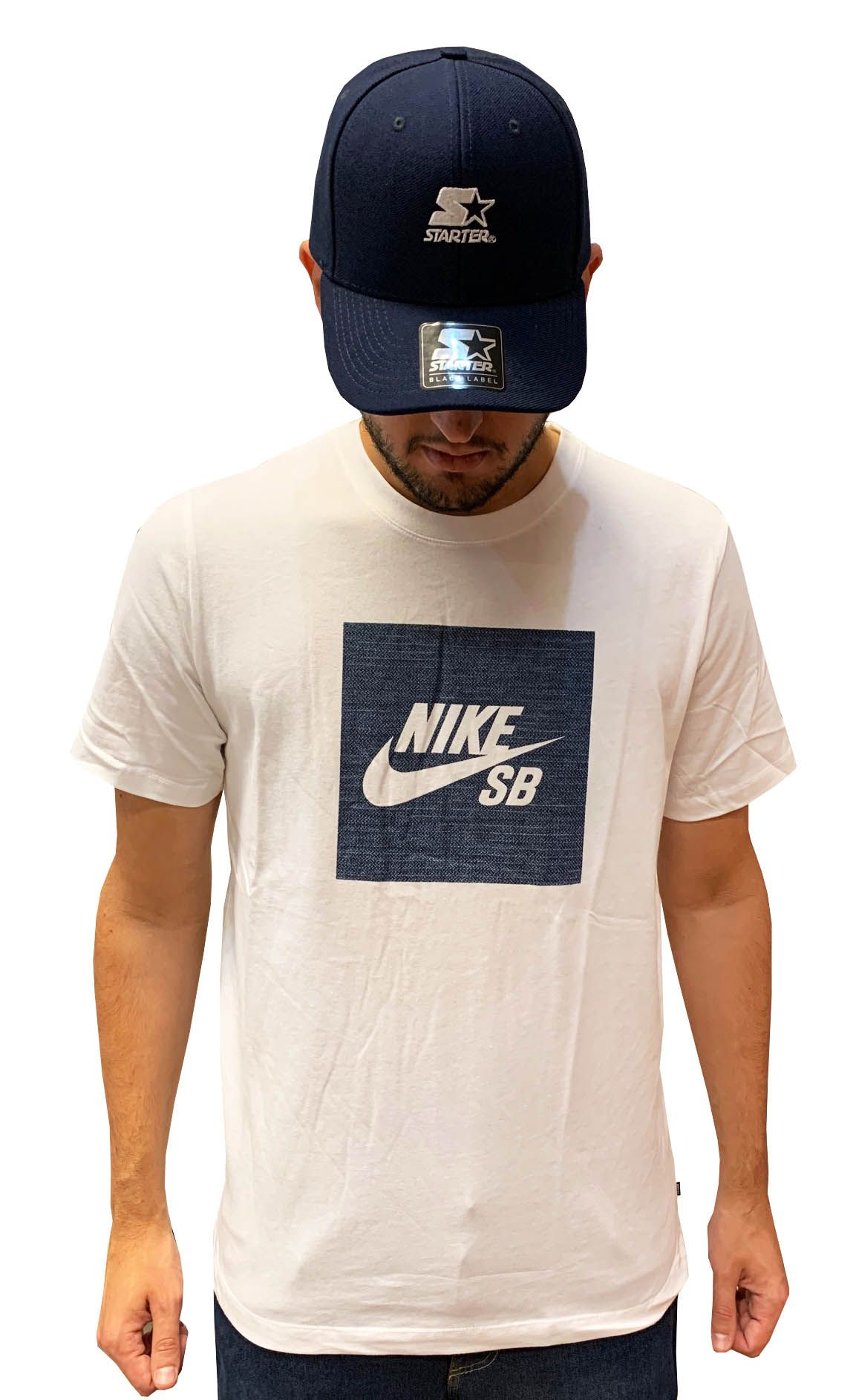 Camiseta Nike Sb tee Logo Chambray Masculina