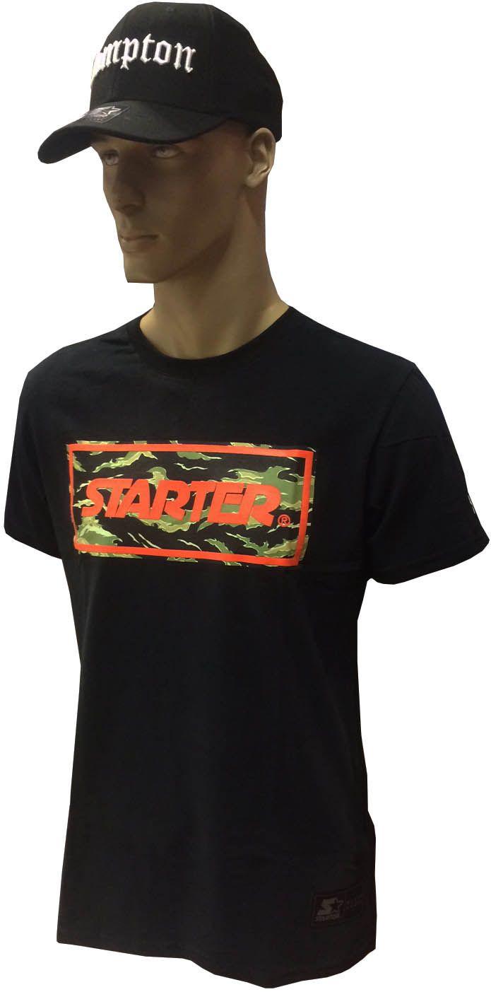 Camiseta Starter S696A Preta e cinza Unissex