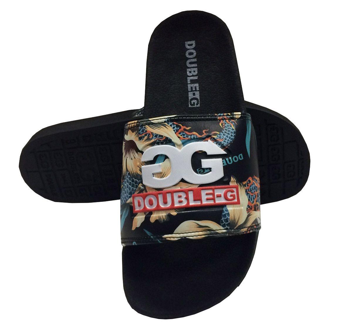 Chinelo Slide Double G Qix DGSL0017 Masculino