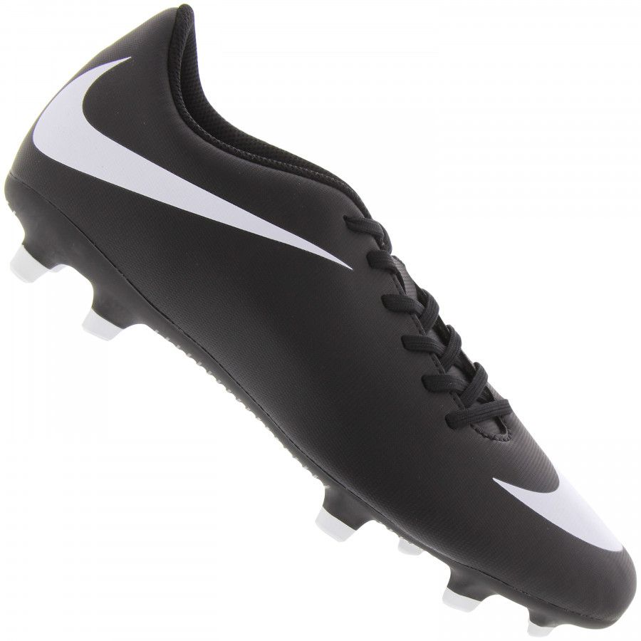 Chuteira Campo Nike Bravata 2 FG Preto e Branco
