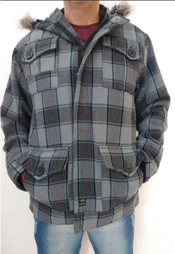 Jaqueta Lã Masculina Gangster. Tamanho único, veste M ou G.
