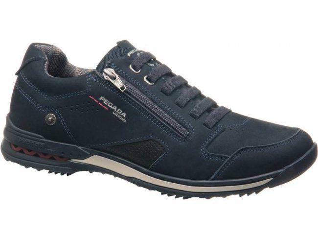 Sapato Pegada Masculino 114852-10 Em Couro MARINHO