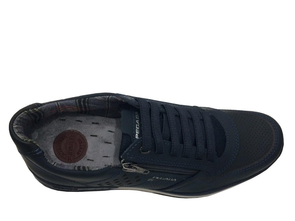 Sapato Pegada Masculino 114807 Couro azul