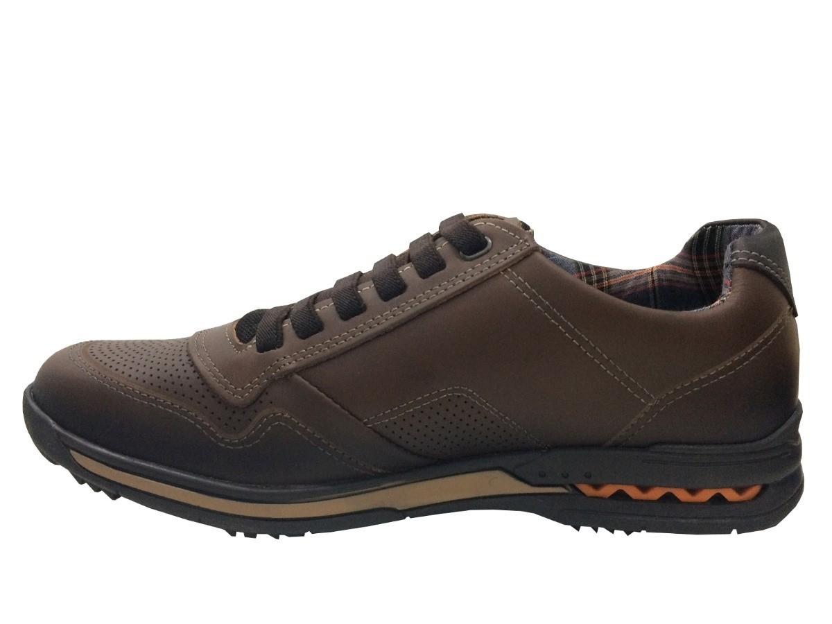 Sapato Pegada Masculino 114807 Couro marrom