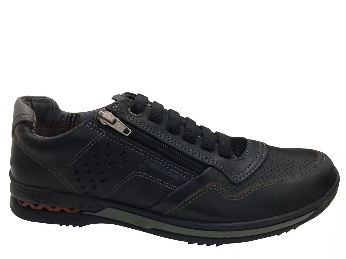 Sapato Pegada Masculino 114807 Couro preto