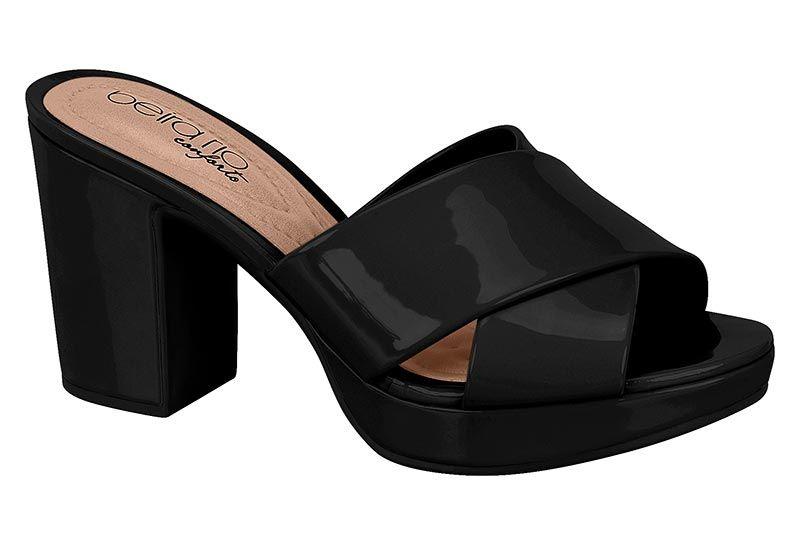 Sapato Feminino Beira Rio Conforto 8371.100 preto verniz