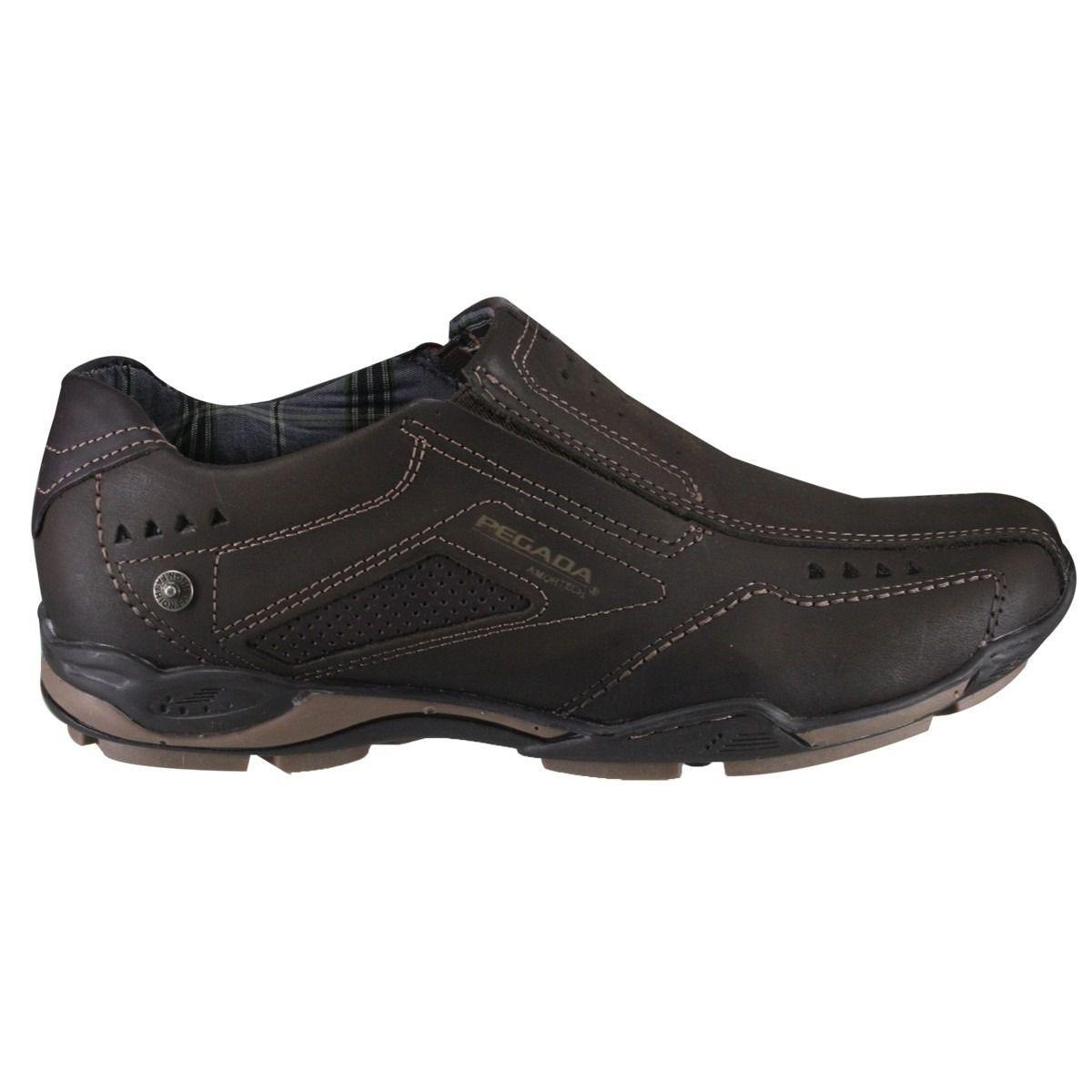 Sapato Sapatênis Masculino Pegada 112663-04 Couro MARROM