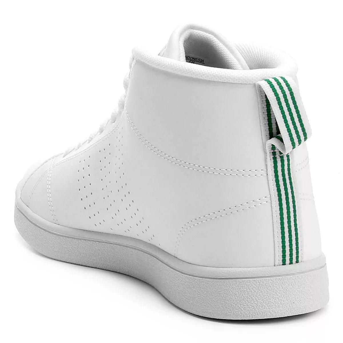 Tênis Adidas Advantage Clean Mid masculino Branco