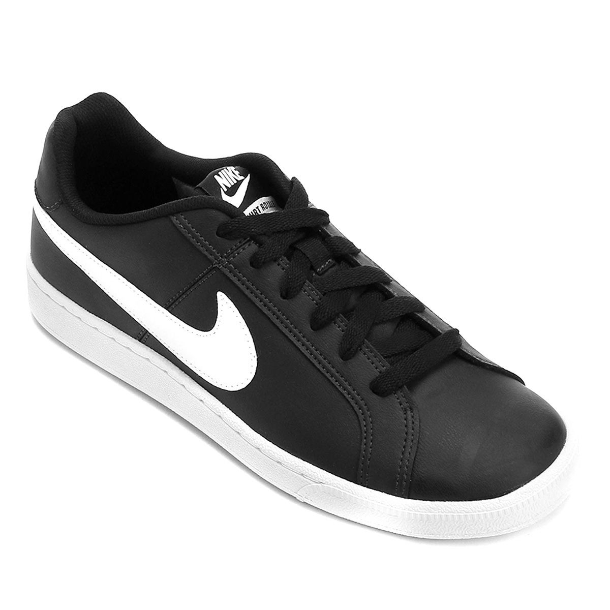 Tênis Couro Nike Court Royale Masculino Preto