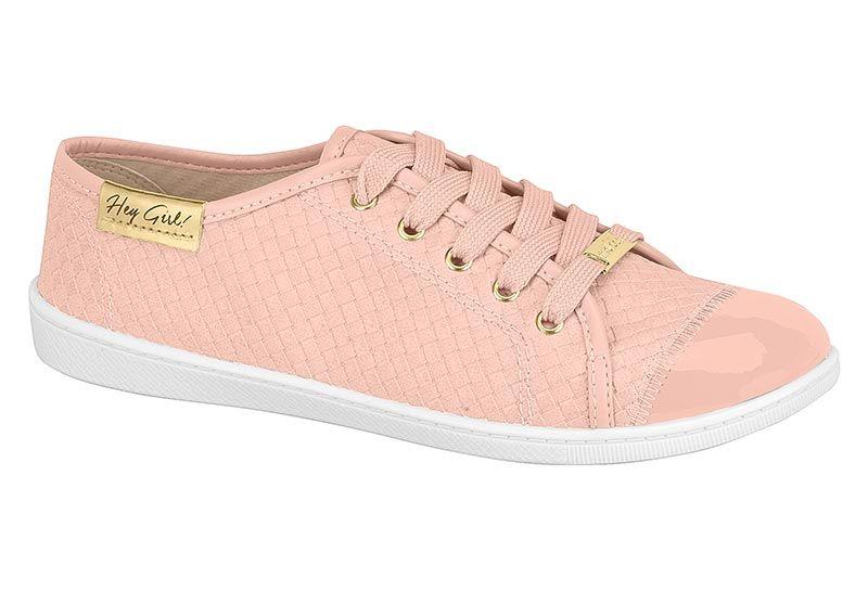Tênis Feminino Moleca 5605.112 Original Pronta Entrega rosa tressê
