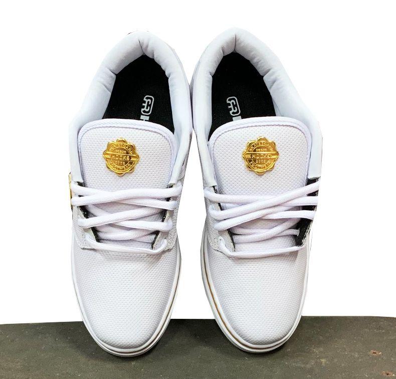 Tênis Hocks Montreal White/gold Branco Ouro Skate Original