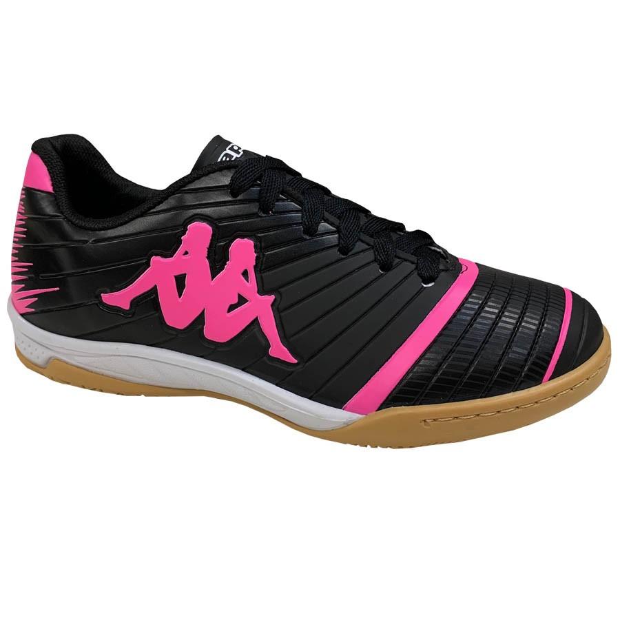 Tênis Kappa Futsal 8358 Preto Rosa