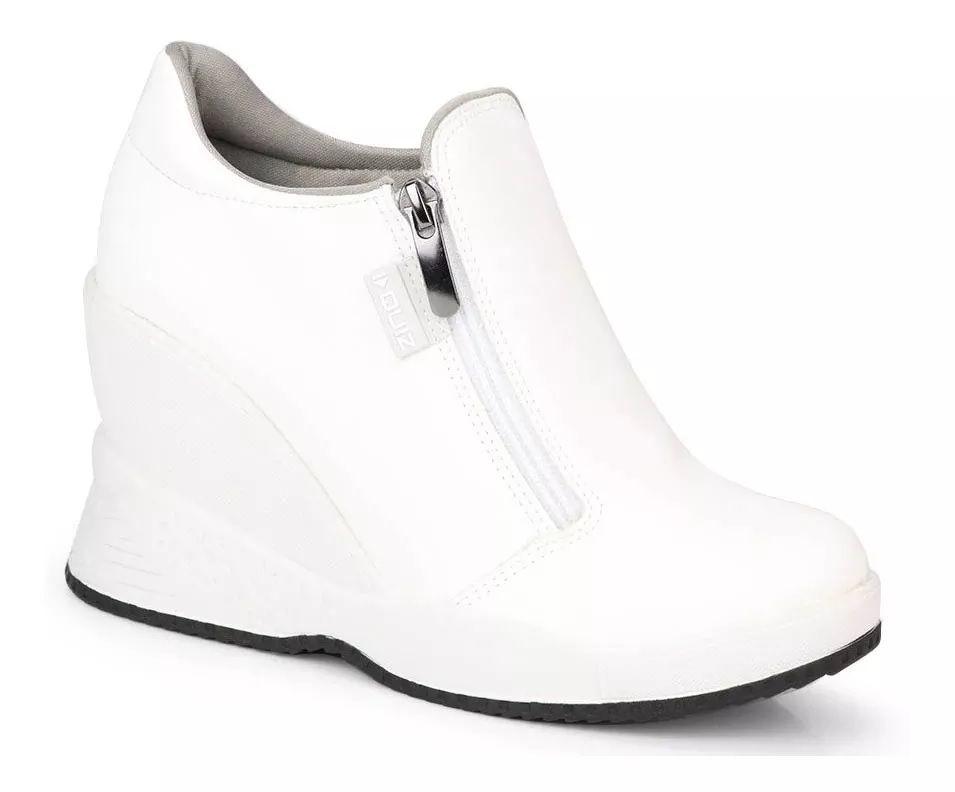 Tênis Quiz Sneaker Zíper 67-19903 Feminino
